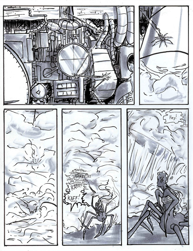 If I had my way, every panel of the comic would be full of dust and smoke and steam.